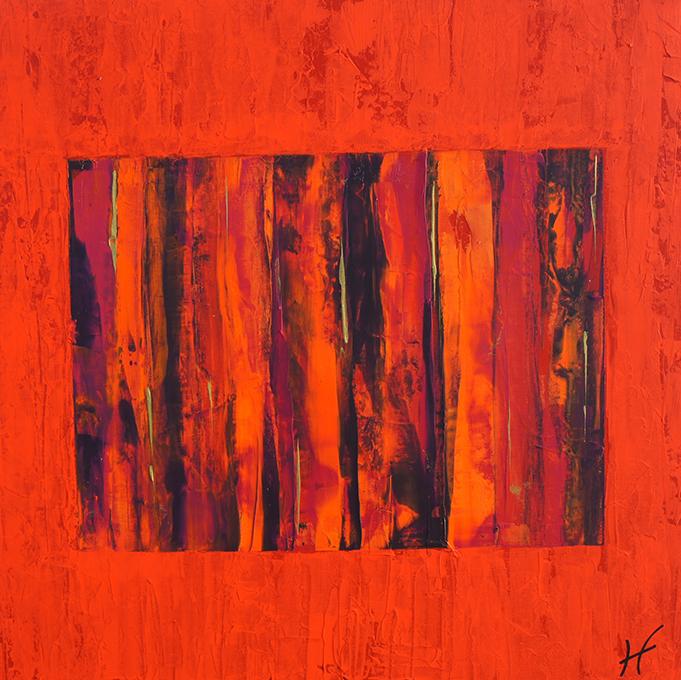 Lénon baille galerie abstrait toile lisa